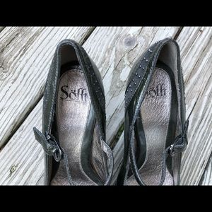 Sofft Shoes - Sofft  Black/ Gray Mary Jane Peep Toe, Sz 9.5
